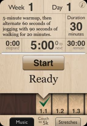 Couch to 5k - iPhone Screenshot