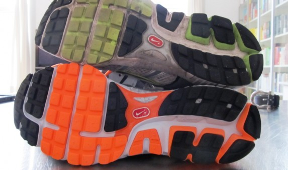 Nike Zoom Structure Triax 15 - Outsole Comparison with Structure Triax 13