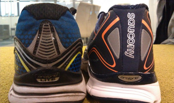 Saucony Kinvara 3 - On the Right vs 2 on the Left