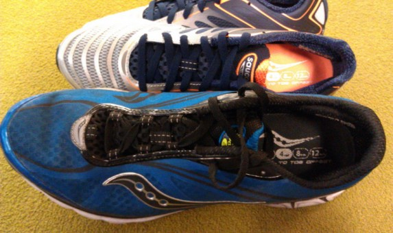 Saucony Kinvara 3 - Upper Comparison with the 2