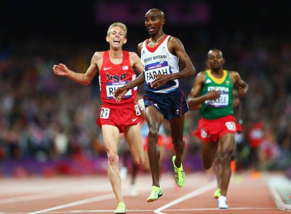 o Farah and Galen Rupp in the Men's 10,000 Meters Final at the London Olympics