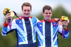 British Olympic Triathletes Alistair (L) and Jonathan Brownlee