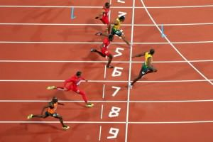 Usain Bolt Wins the 100 Meter Sprint at the 2012 Summer Olympics