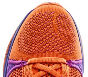 Nike running shoes Flyknit Detail