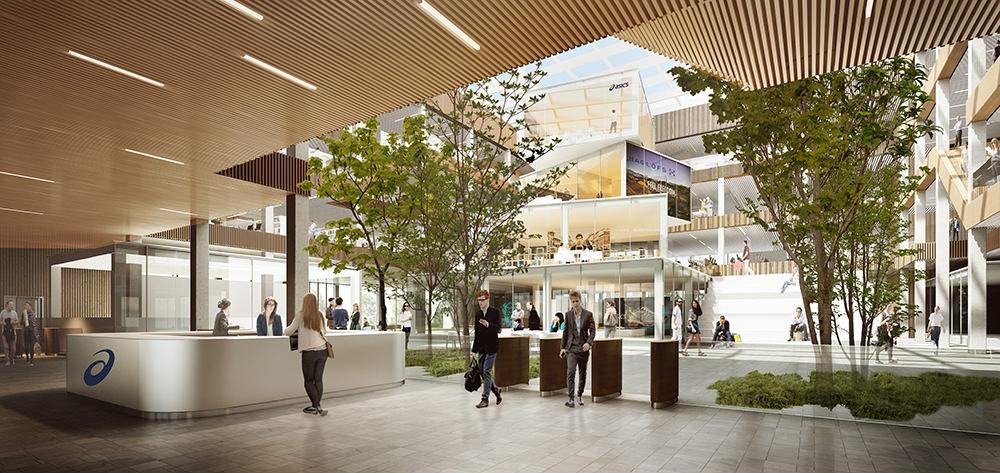 ASICS EMEA Headquarters interior concept