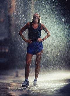 Runners love rain