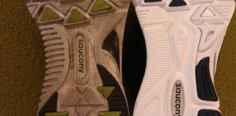 Saucony Kinvara 3 - Outsole on the Right vs 2 on the Left
