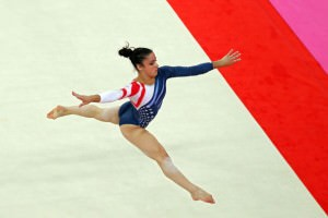 Aly Raisman's gold medal winning floor routine displayed not only grace, but tremendous strength and athleticism.