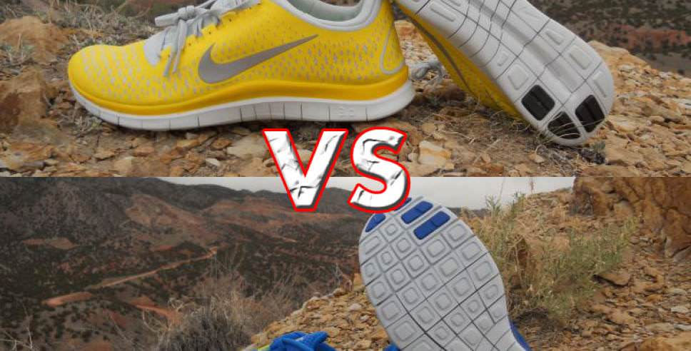 Difference Between Nike 3.0 v4 and Nike Free Run+ 3