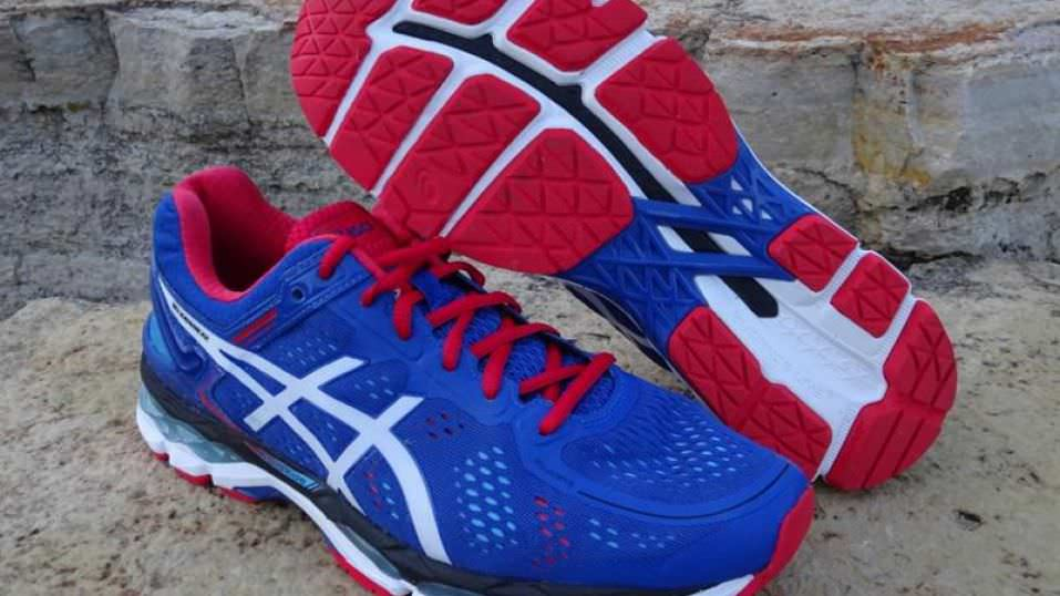 2 pairs asics kayano running shoes