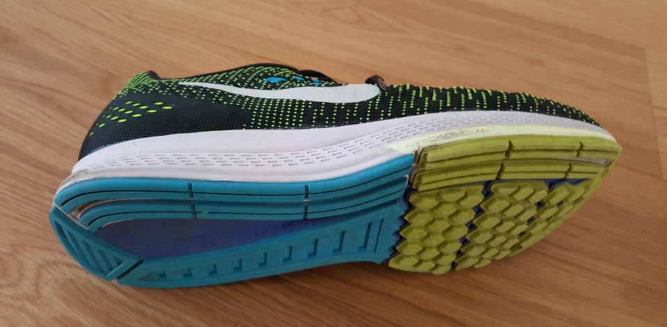 Nike Zoom Structure 19 - Sole view
