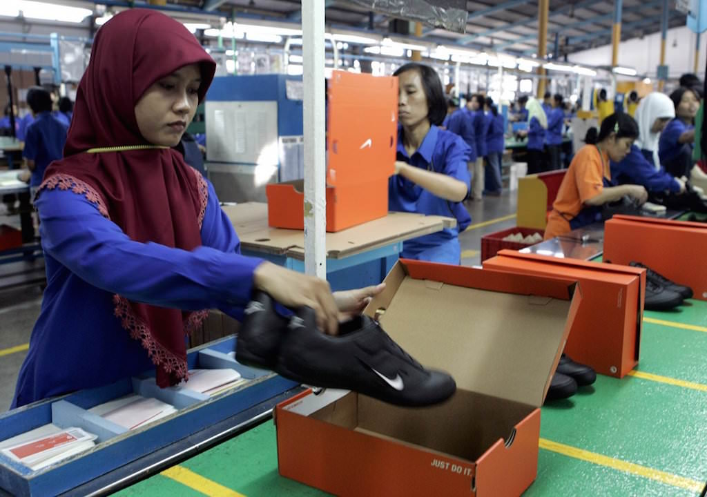 Nike factory worker in Indonesia