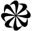 swoosh pinwheel icon