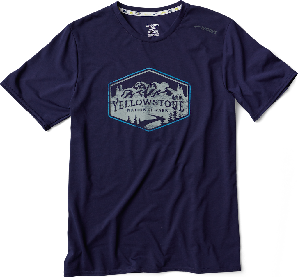 Brooks Yellowstone National Park Men's T-Shirt