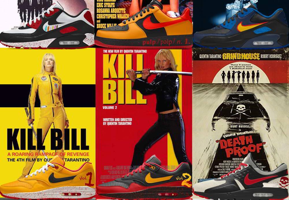 Nike Inspired Shoes Guru By MoviesRunning 9 Custom Tarantino lFJcKT13