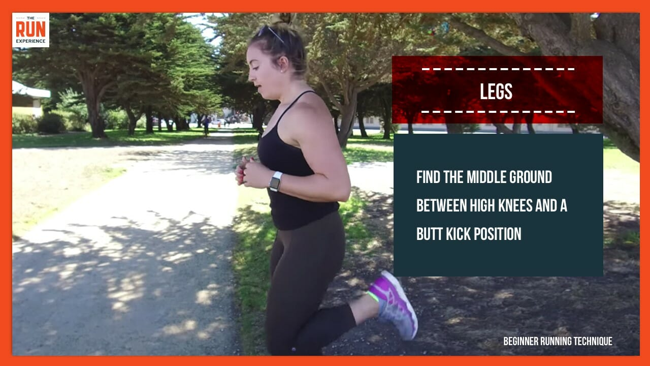 beginner running technique - legs 1