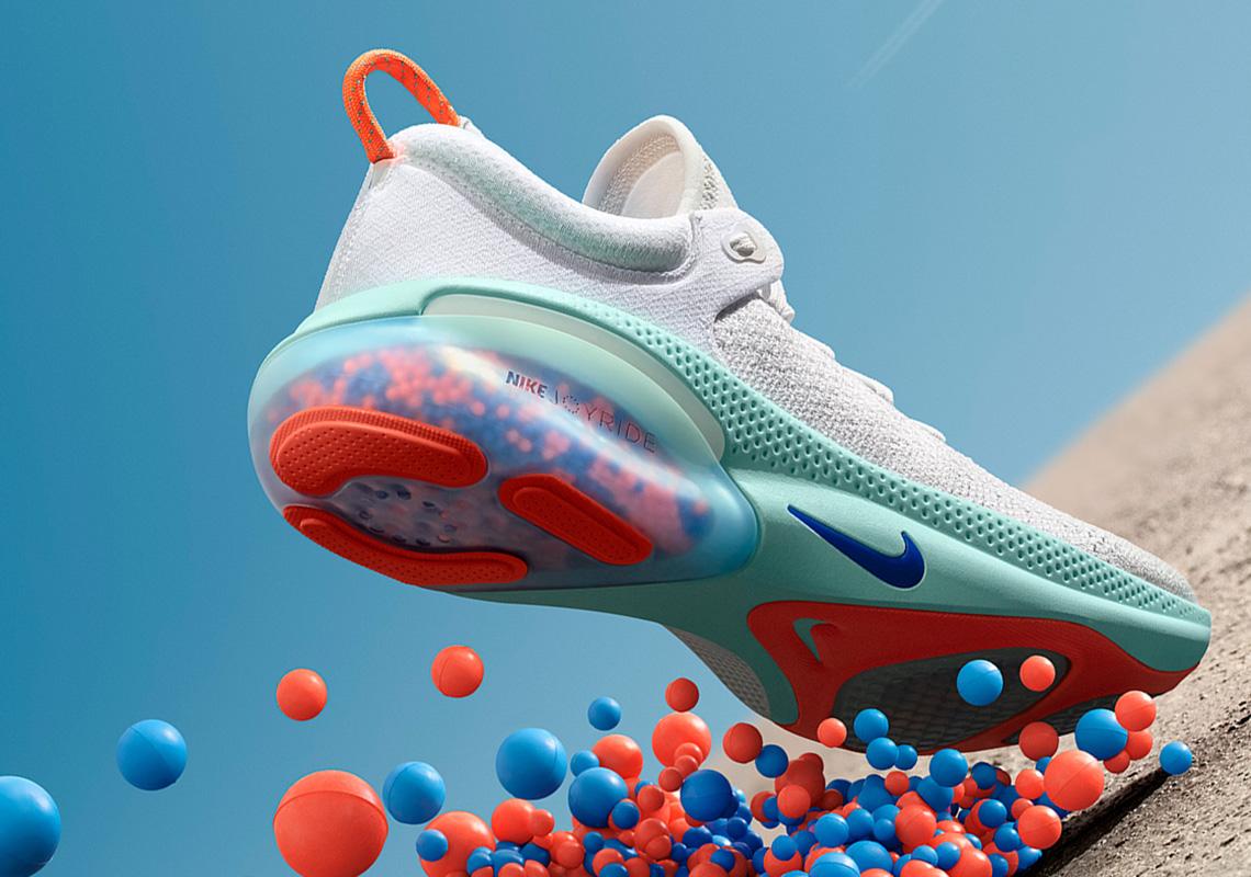nike joyride run flyknit shoe release running runner beads sneakers jd react inovasi cushioning presente aterrou tecnologia lemanoosh tallas disponibles