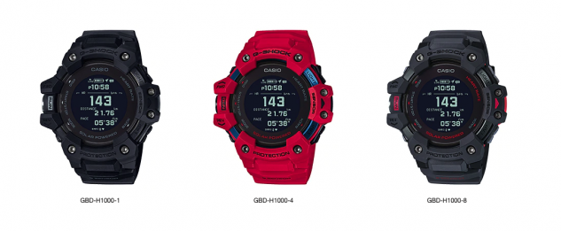 The G-Shock GBD-H1000 lineup.