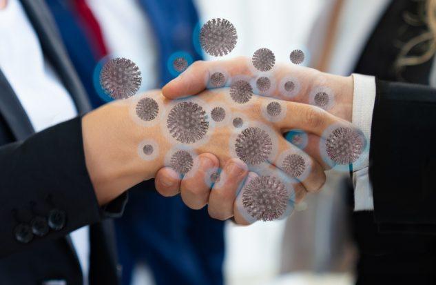 coronavirus handshake