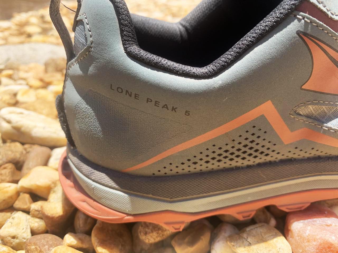 Altra Lone Peak 5.0 - Closeup Heel