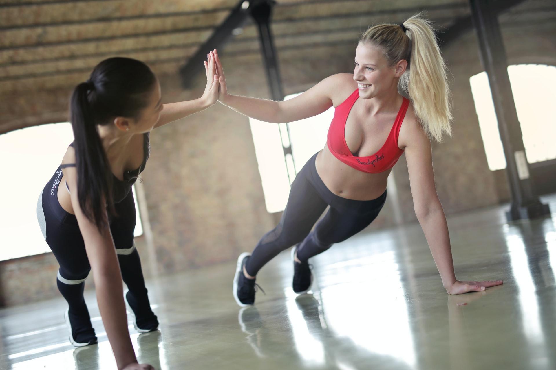 Women workout plank
