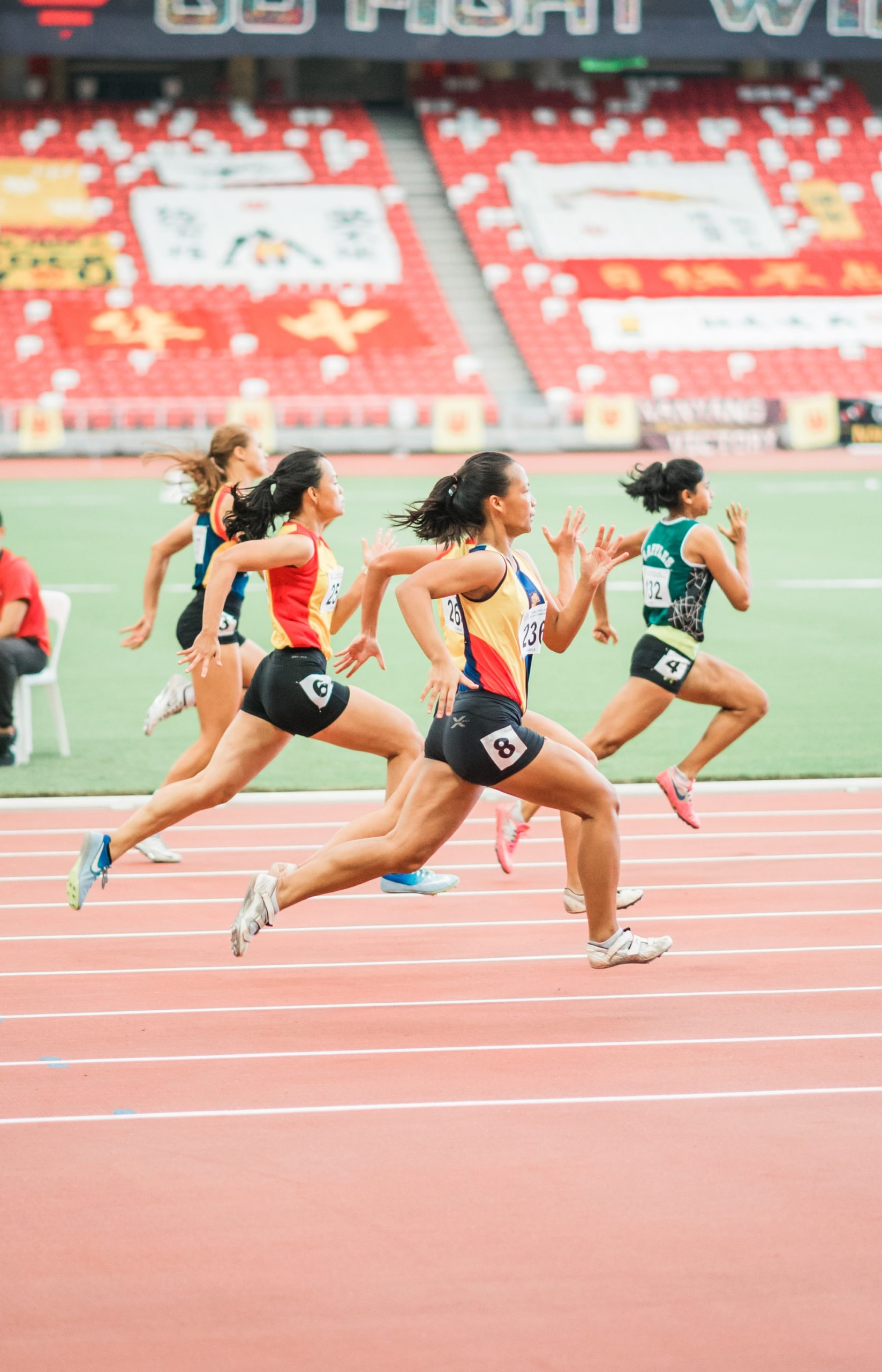 Air phase of running on track