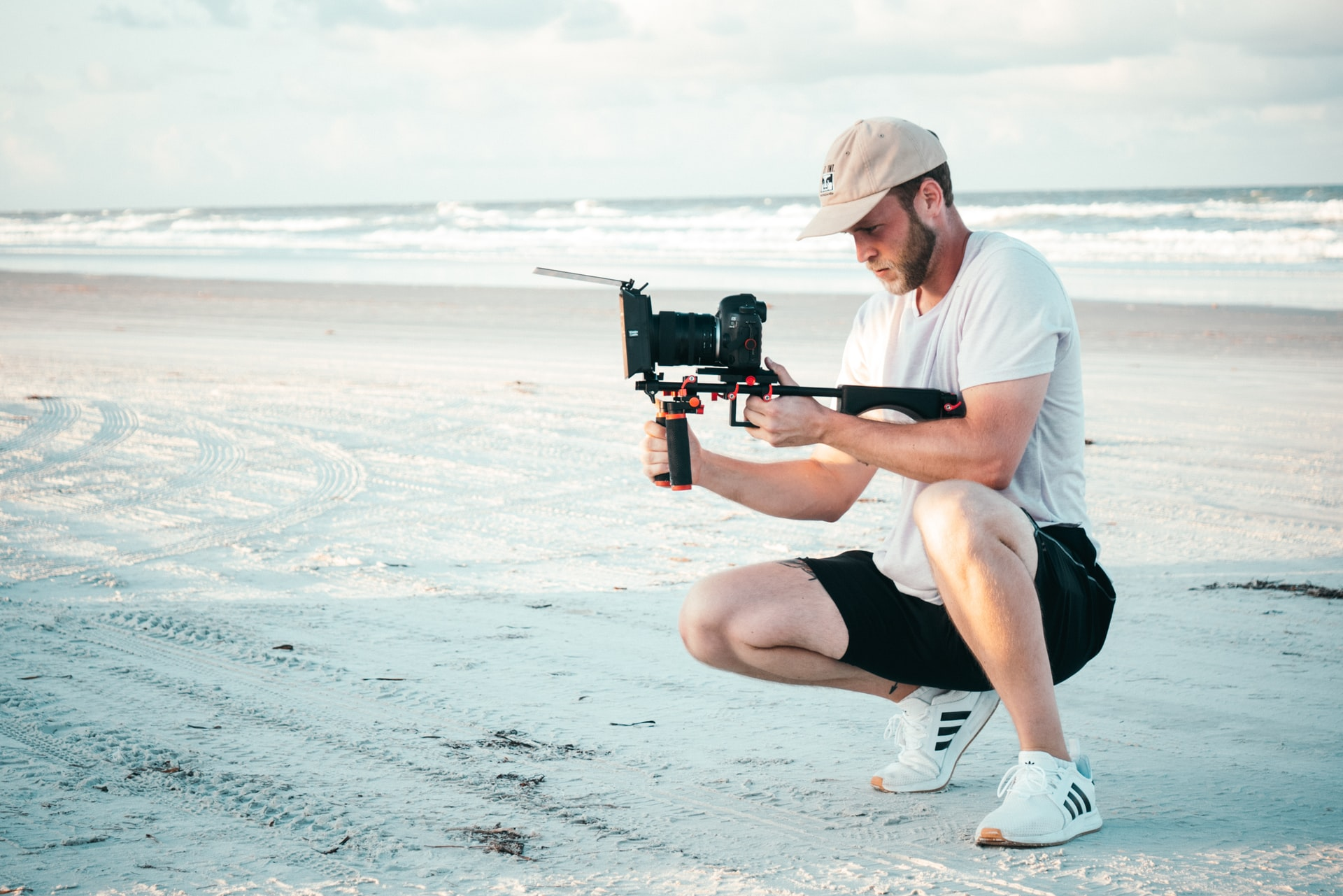 man with video