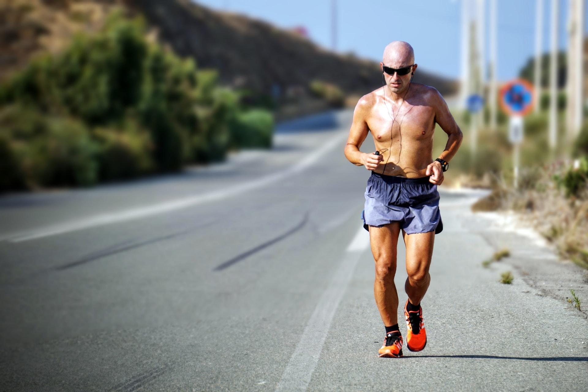 man running topless