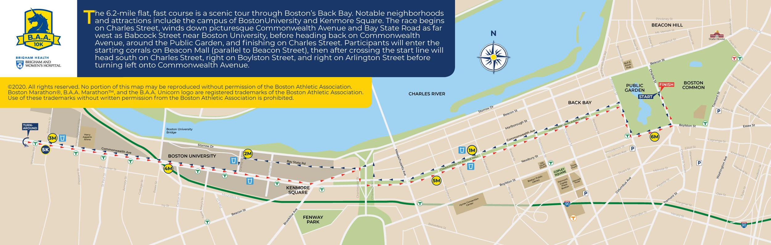 Boston 10k route