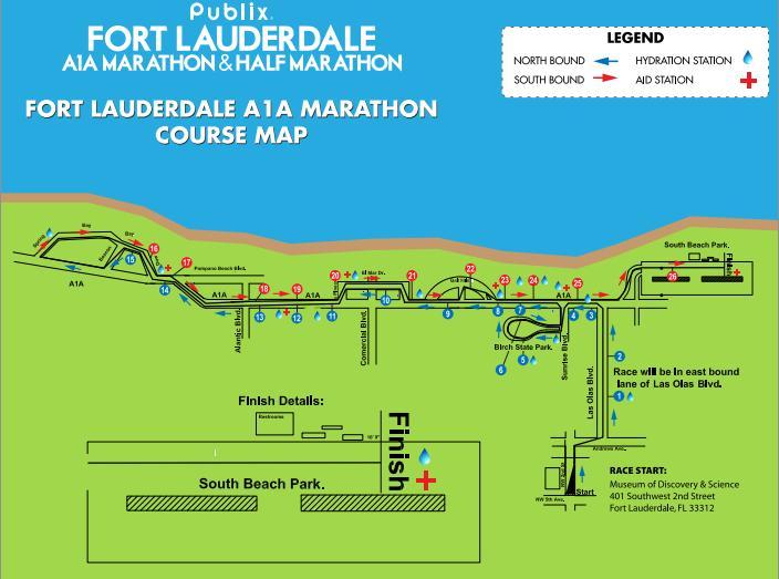Fort Lauderdale marathon route