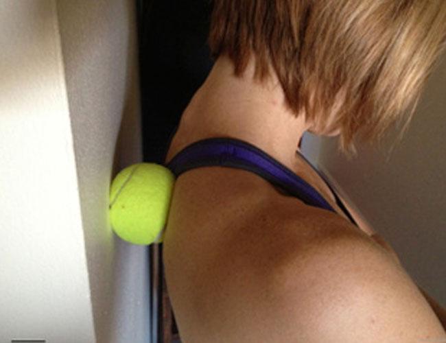 Tennis ball massage