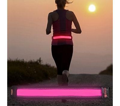 LED Running Waist Belt USB Rechargeable